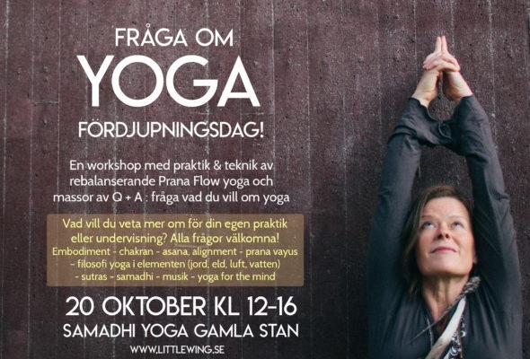 Fråga om yoga –fördjupningsdag 25 november